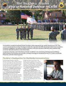 2015 Fort Huachuca Fact Sheet
