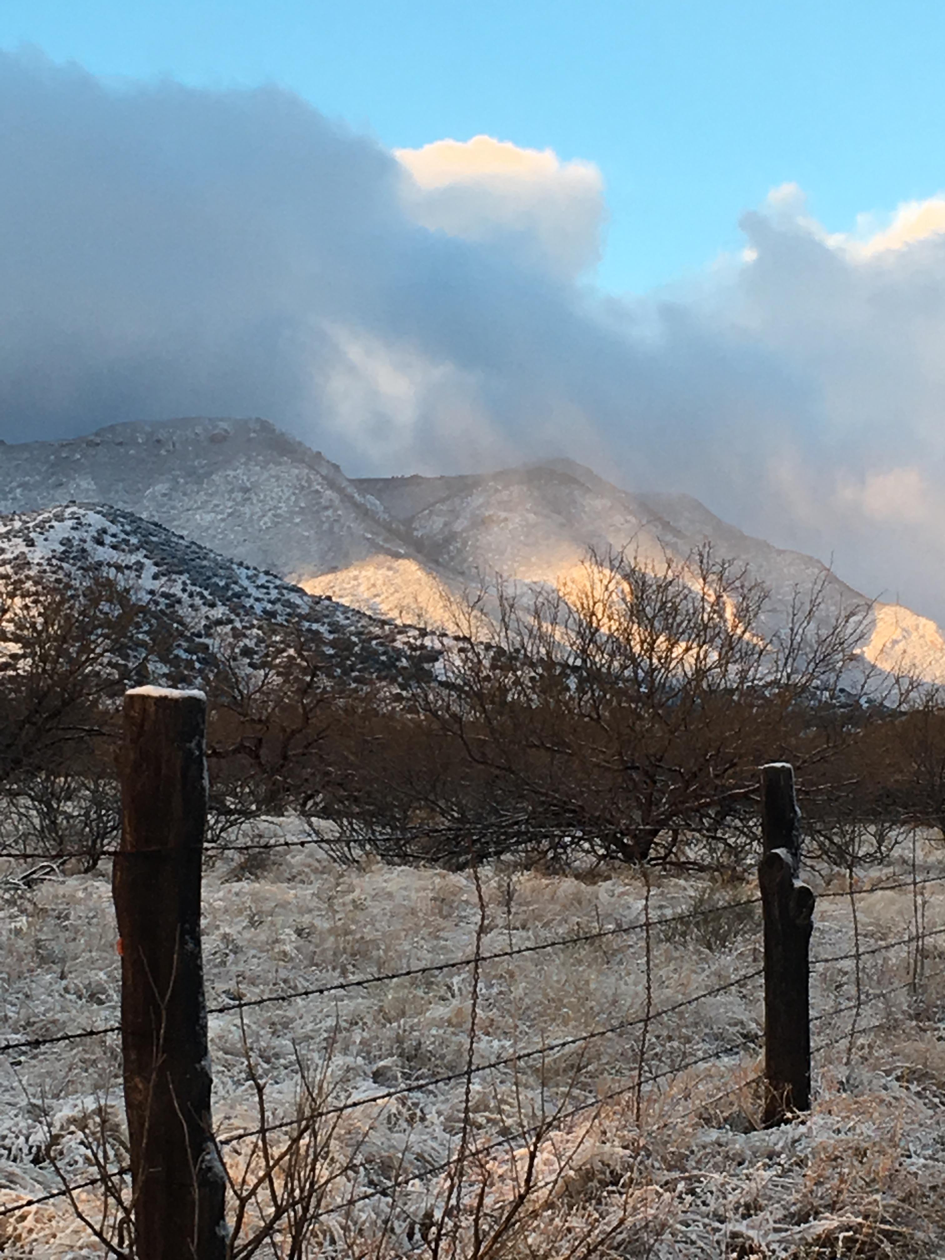 Snow on Huachucas